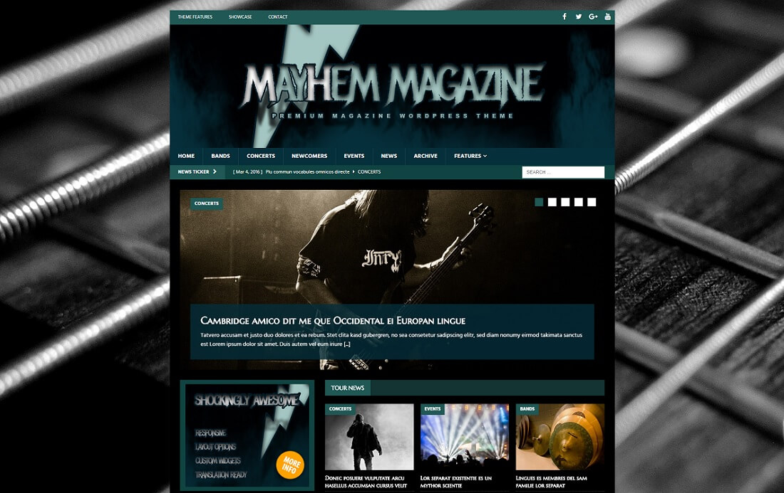 mh musicmag free music website template