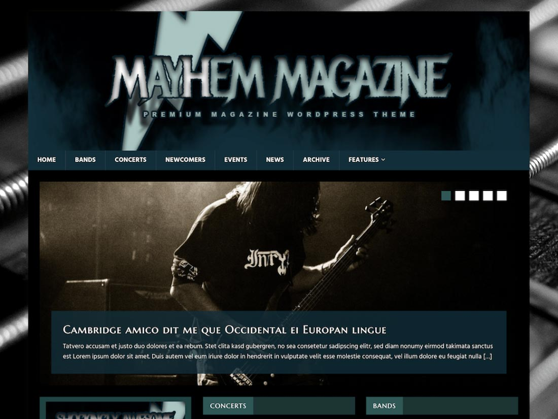 15 Free Music WordPress Theme for Band and Event Websites 2018 ...