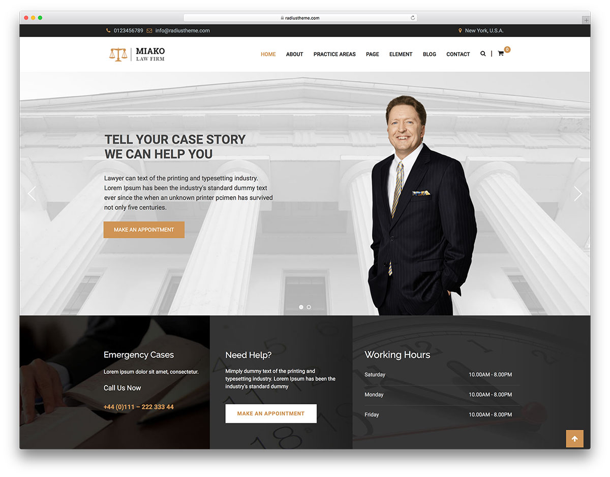 30 Best Lawyer WordPress Themes For Law Firms and Attorneys 2018 ...