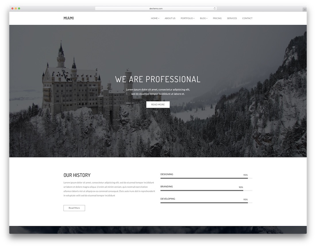 miami professional website template