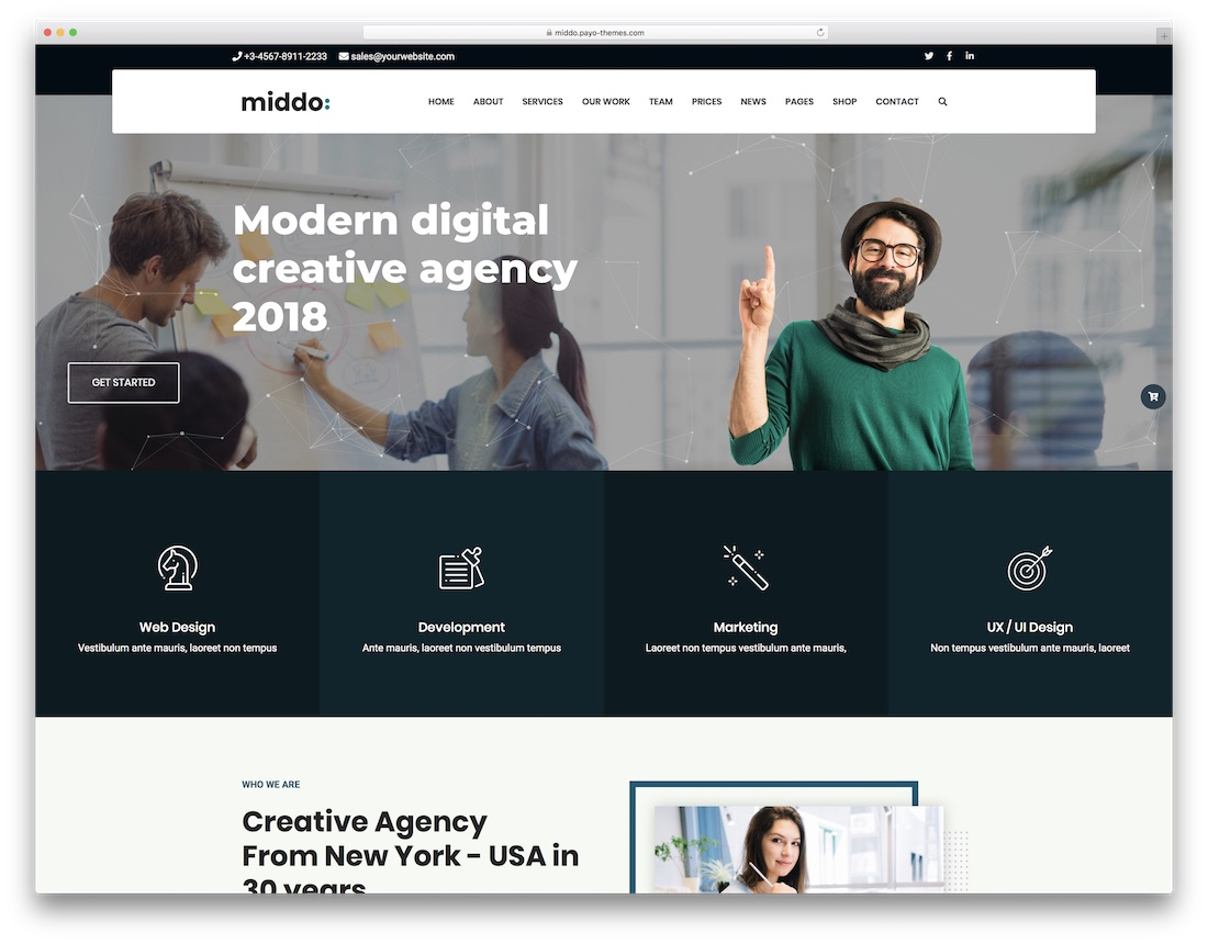 middo wordpress bbpress forum theme