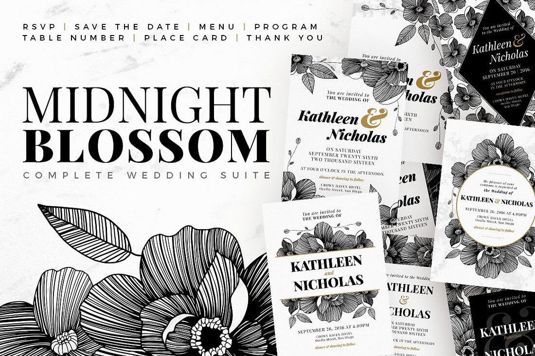 midnight blossom wedding suite