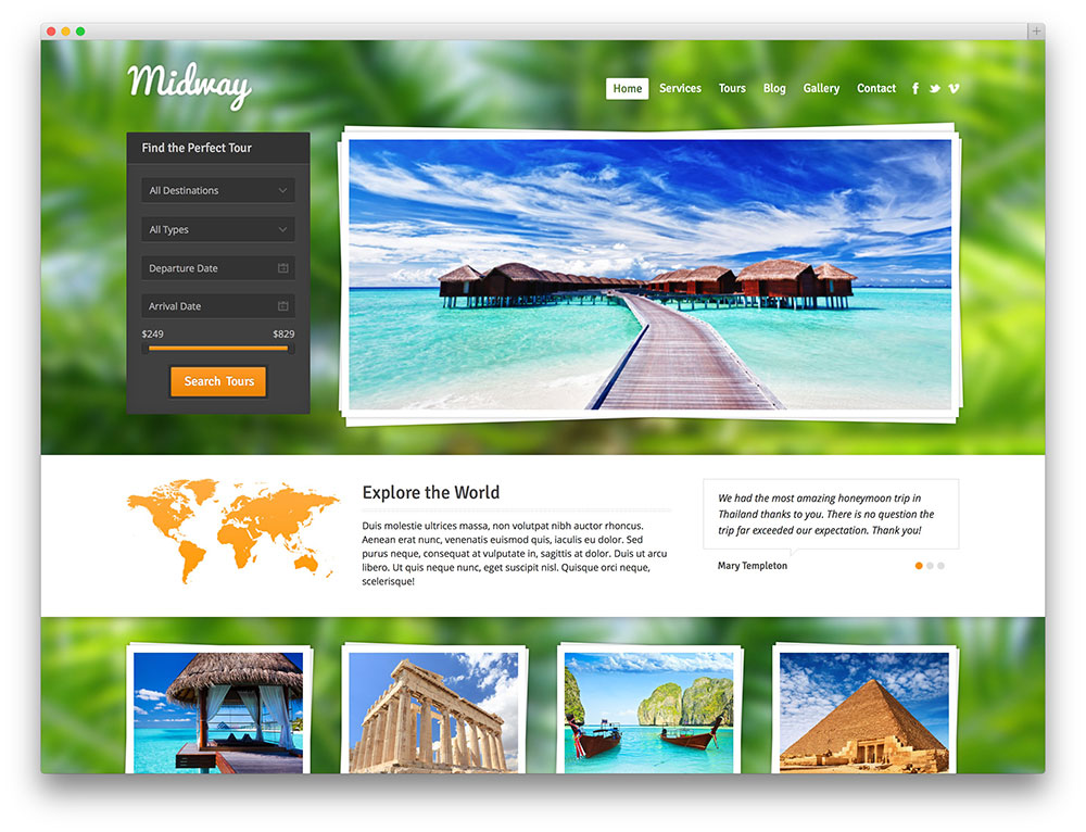 midway - travel booking theme
