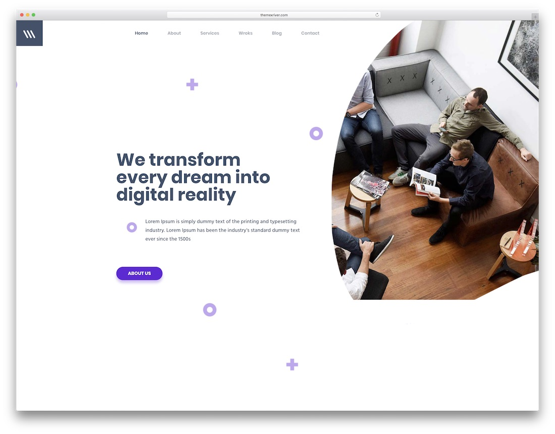 miex video website template