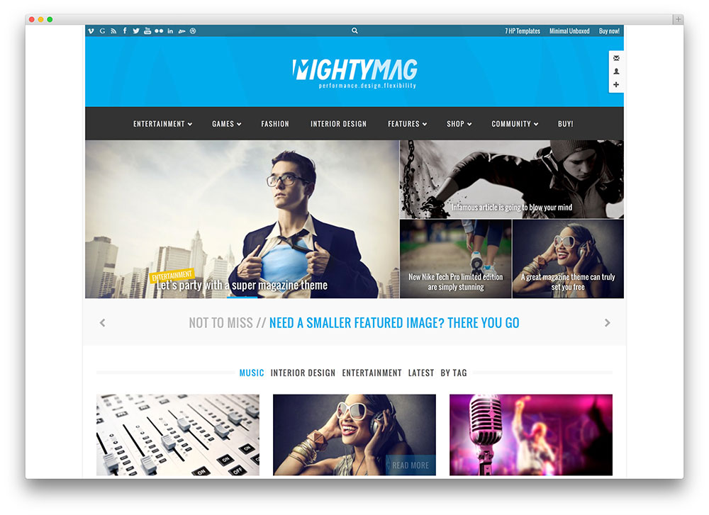 mightymag awesome tech wordpress template