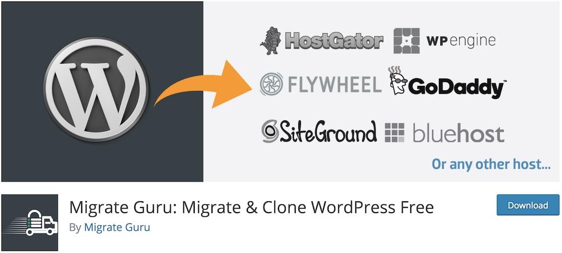 migrate guru clone wordpresss plugin