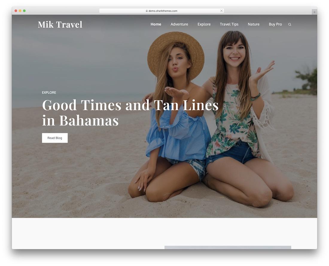mik travel free wordpress theme