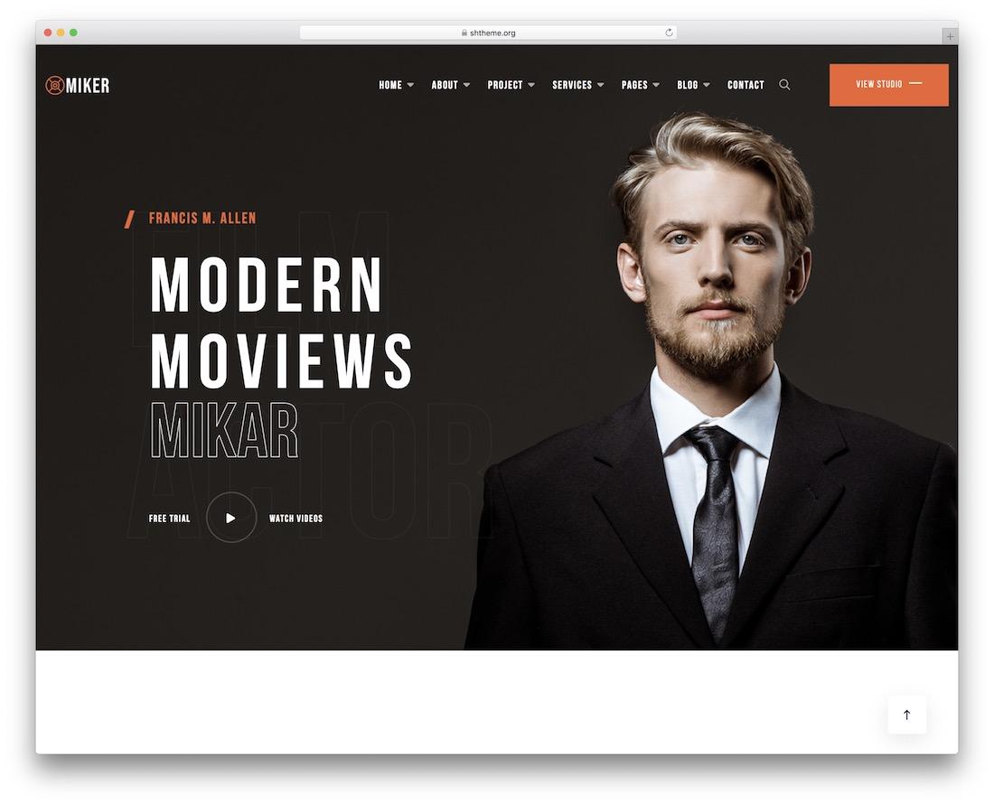 miker videographer wordpress theme