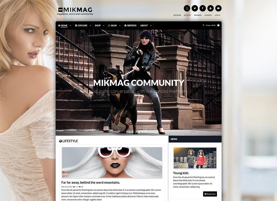 MikMag | Magazine, BuddyPress, bbPress and Woocommerce WordPress Theme