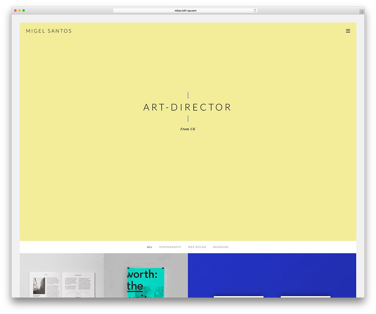 mikos-colorful-wprdpress-portfolio-theme