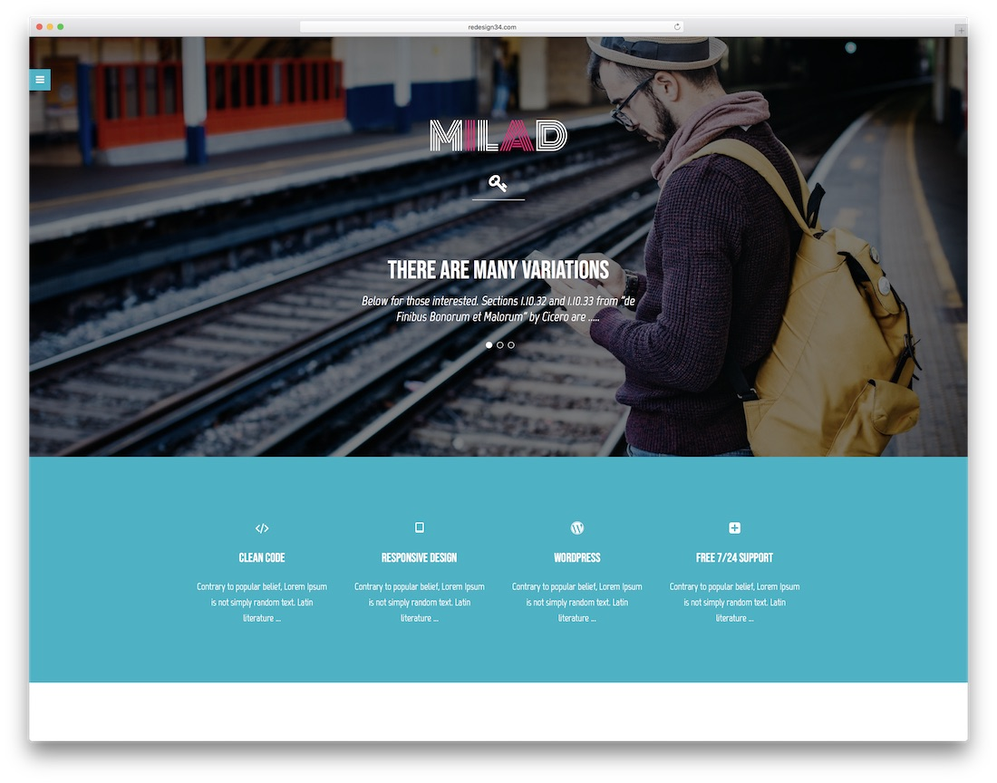 milad clean adobe muse template