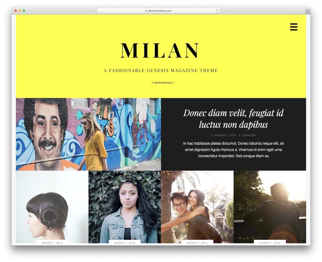 milan genesis child theme