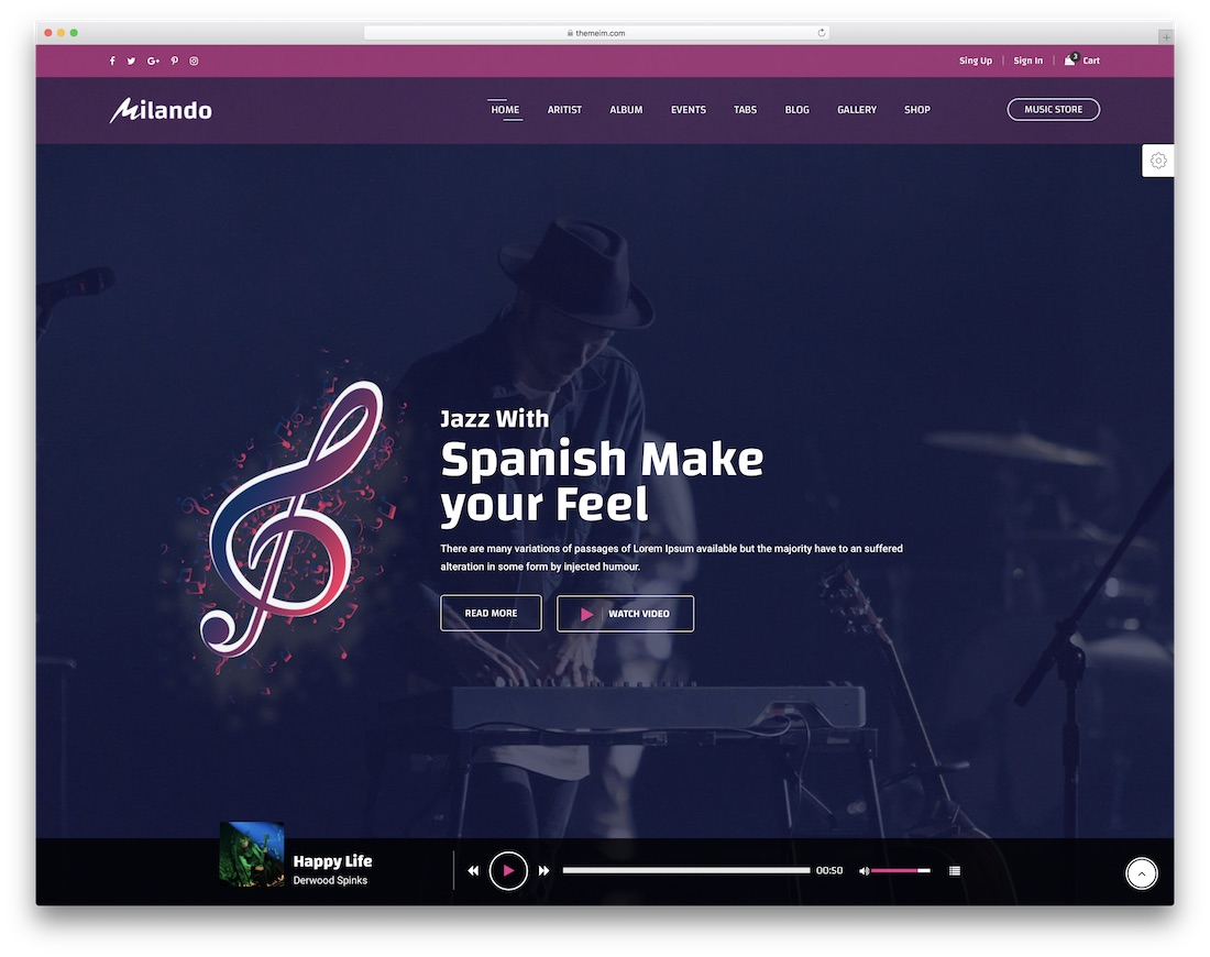 milando community website template