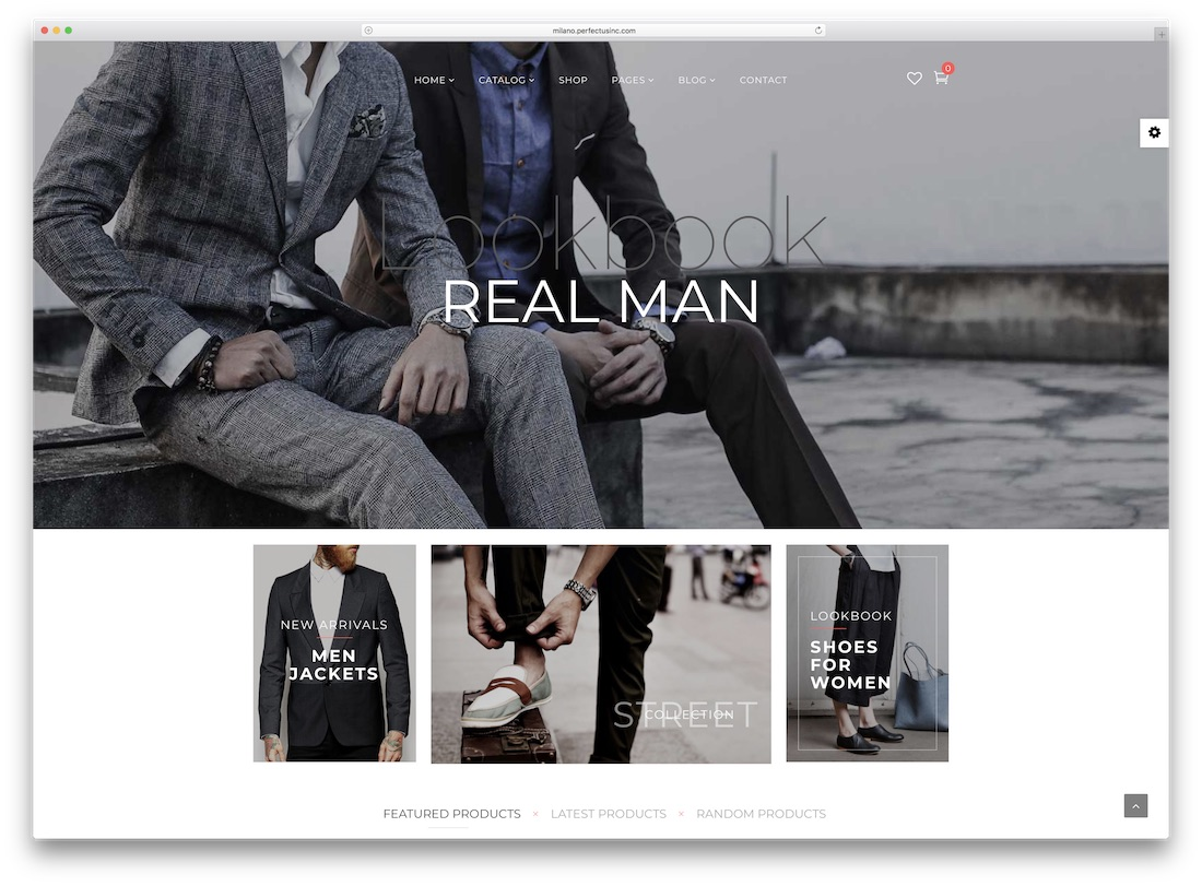 milano fashion virtuemart template