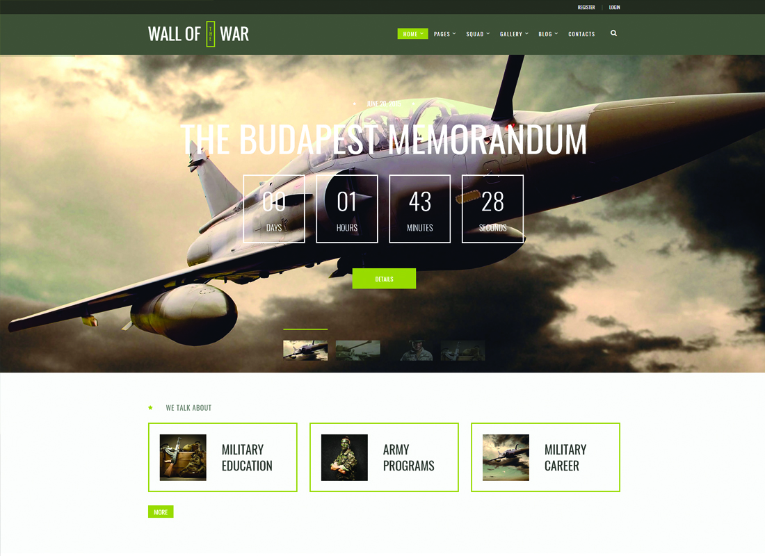 Best Military WordPress Themes for Hunting and Weapon