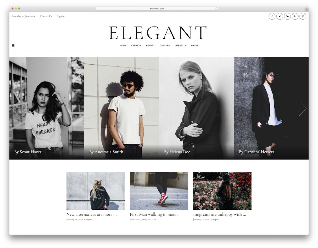 minberimag fashion website template