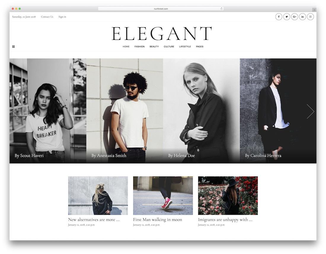 minberimag fashion website template