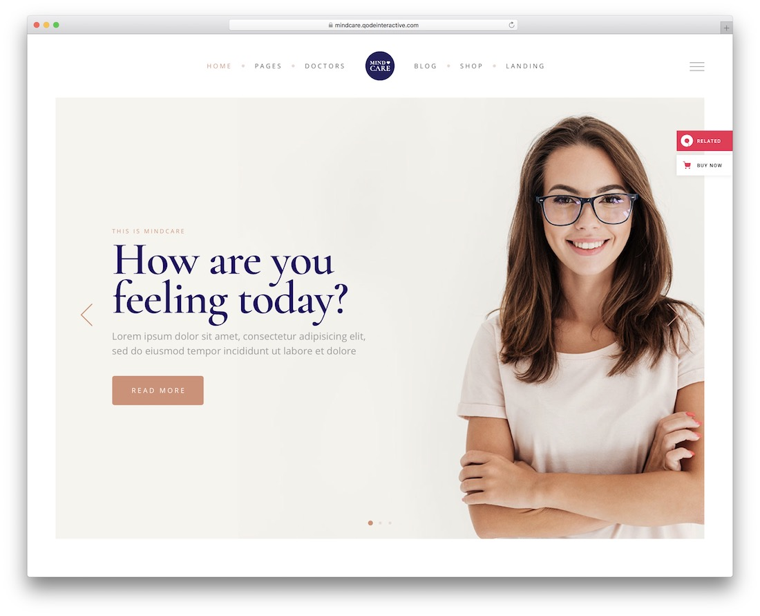 mindcare appointment booking theme