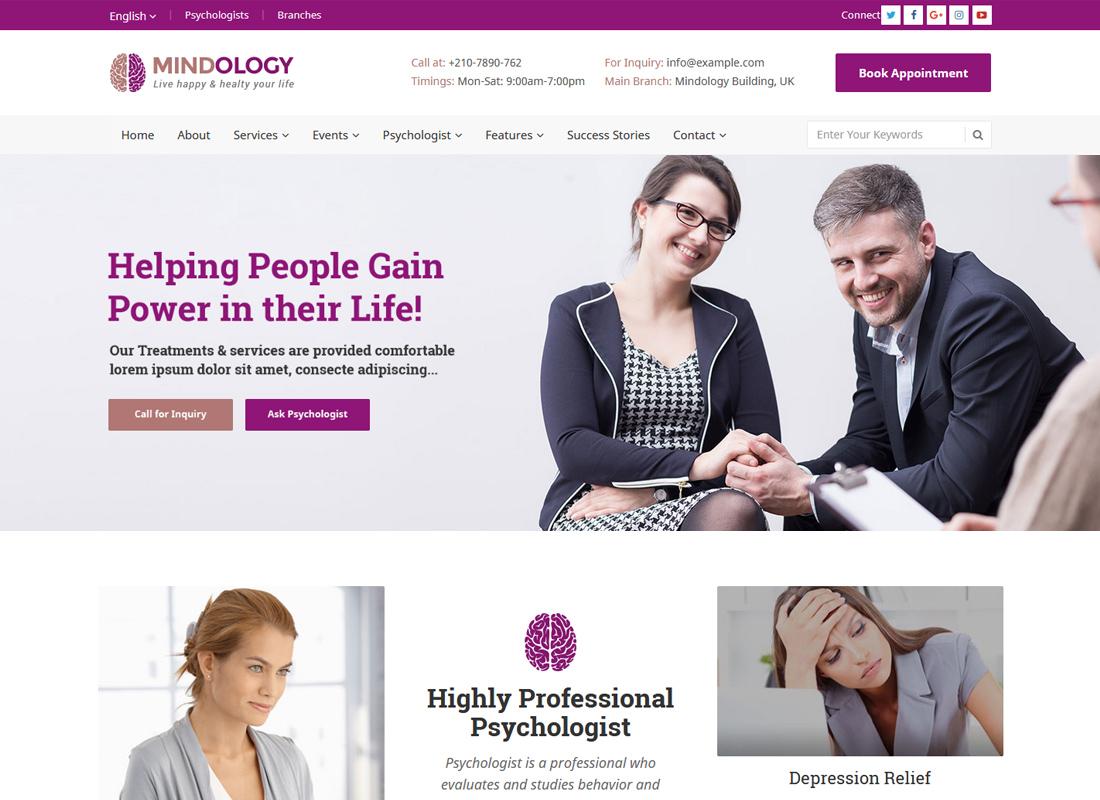 Mindology | WordPress Theme for Psychologists and Therapists