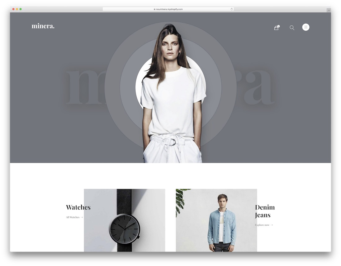 minera fashion shopify theme