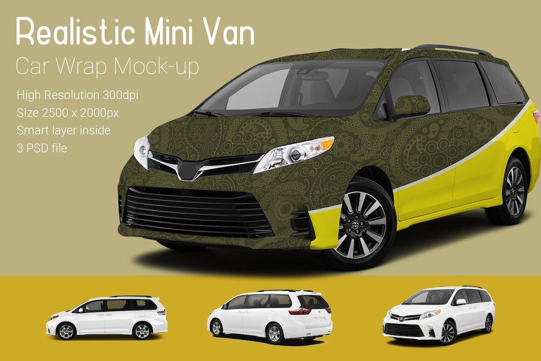 mini van car mock-up