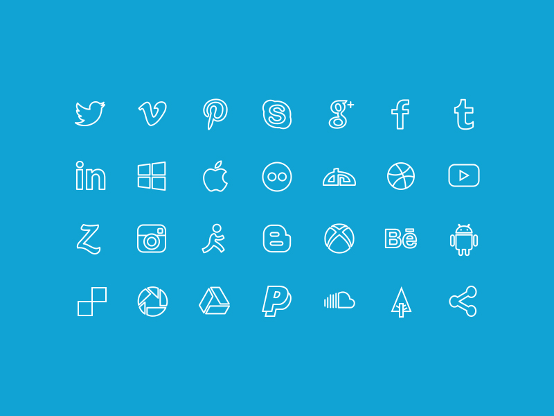 Social icons png facebook