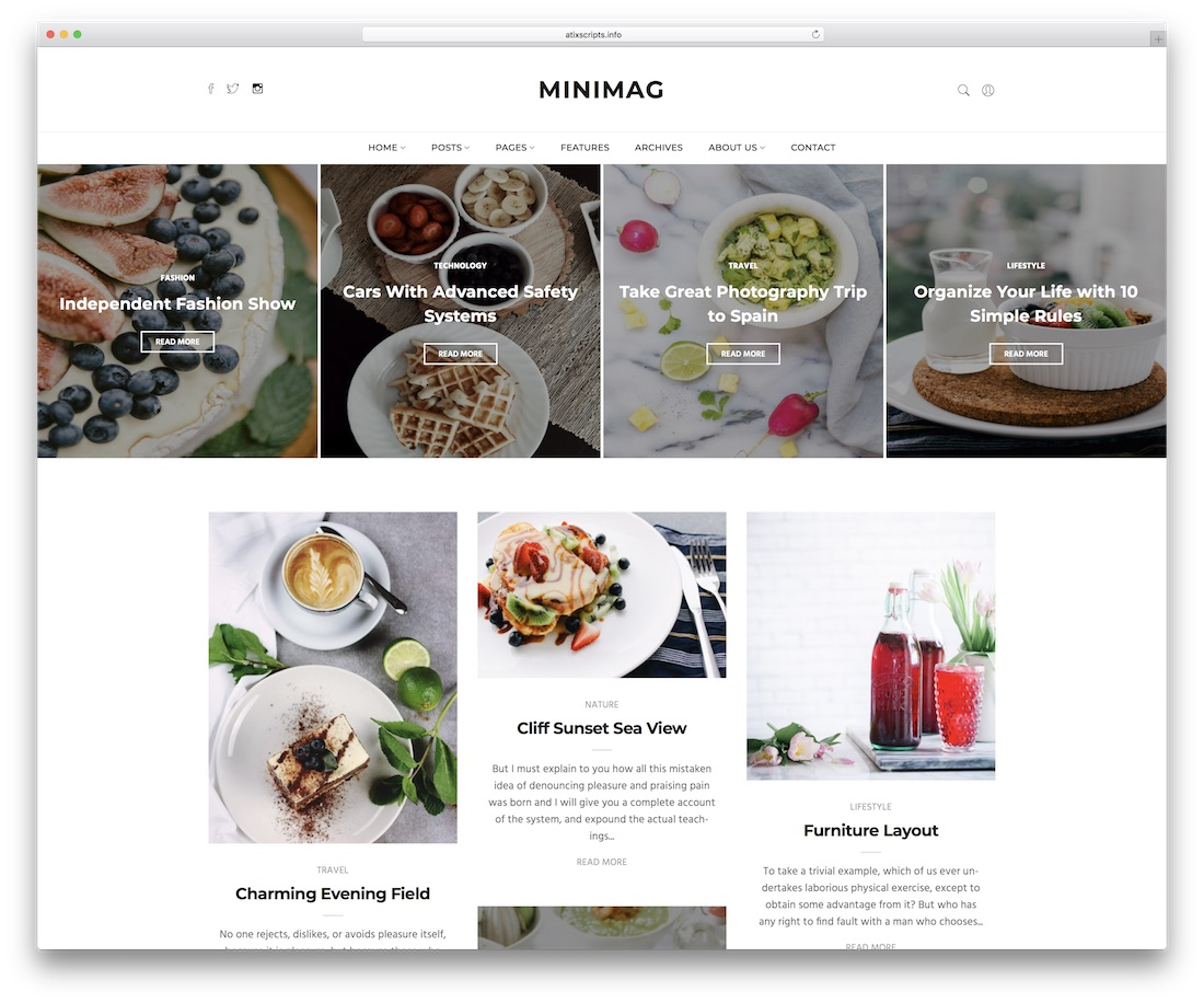 minimag blog website template
