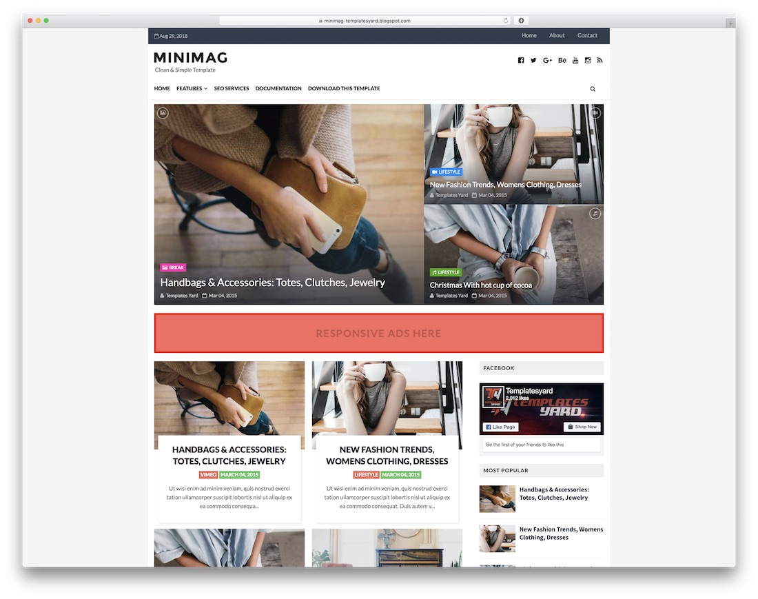 minimag free blogger template