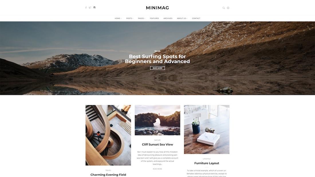 minimag website template