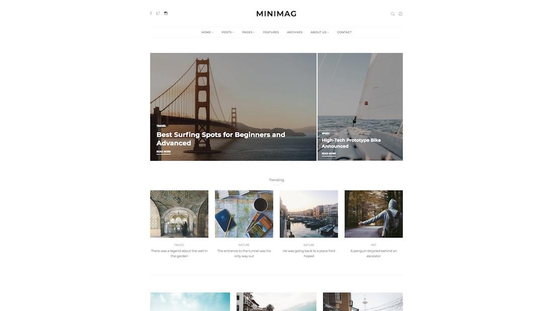 minimag writer website template