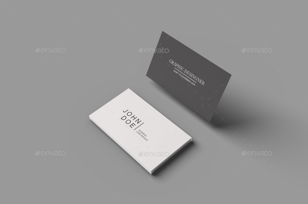 minimal business card mockups