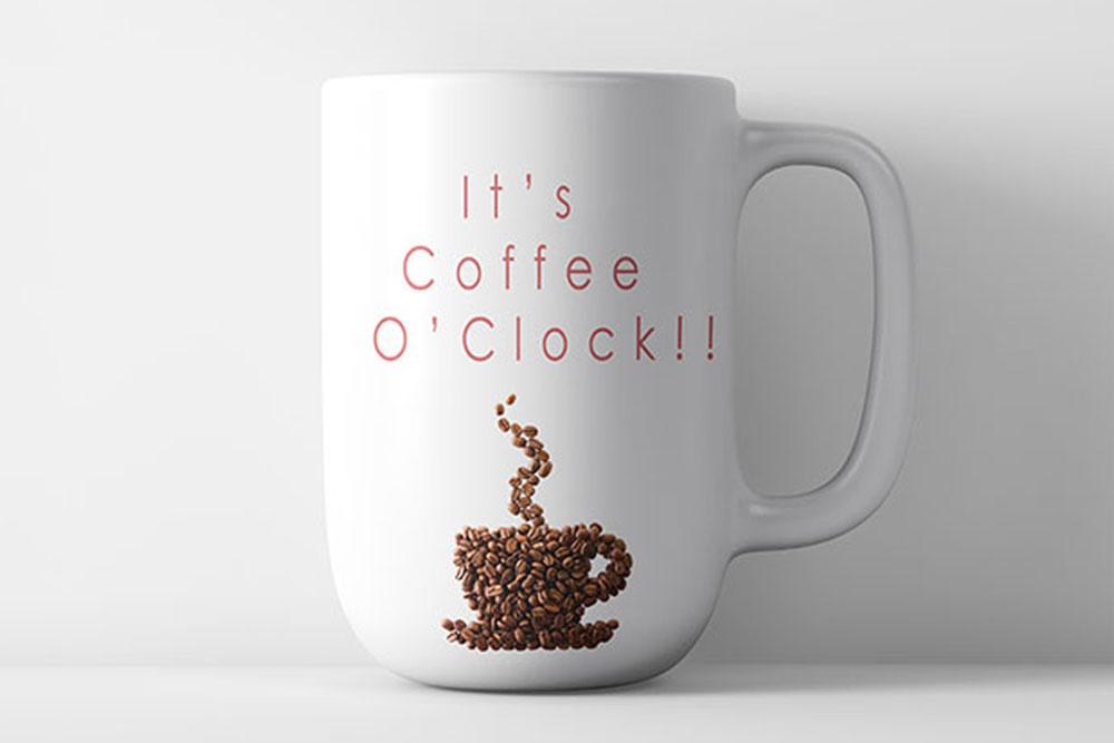 minimal coffee mug mockup