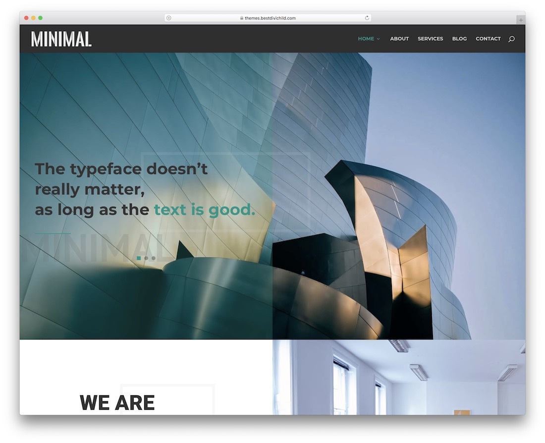 minimal divi child theme