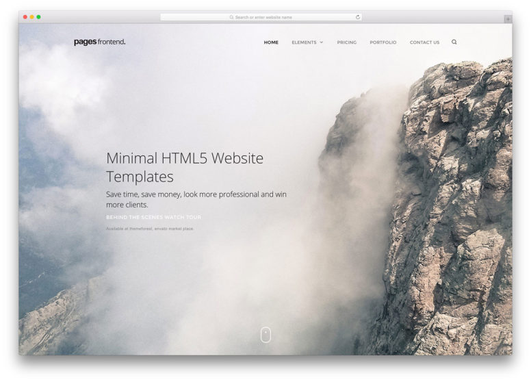 18 Best Minimal HTML5 Website Templates To Create A Simple Yet Professional Website 2017
