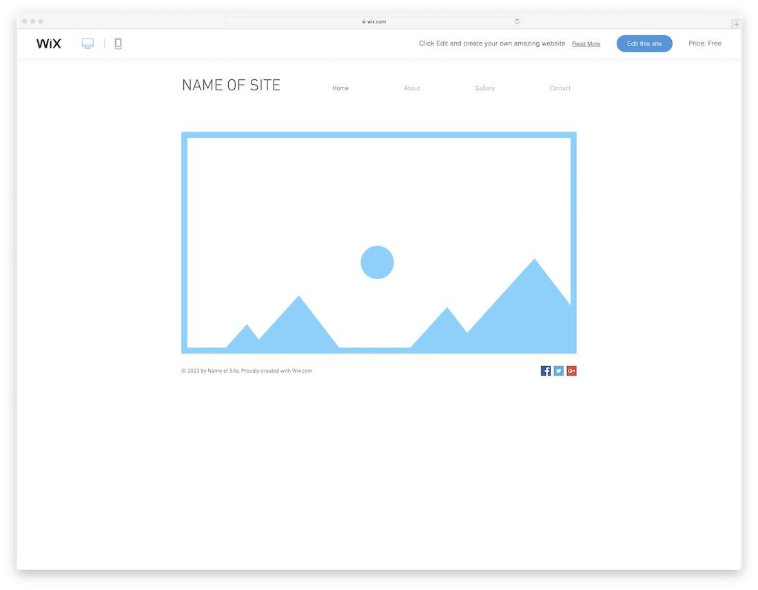 Blank Safari Website Template