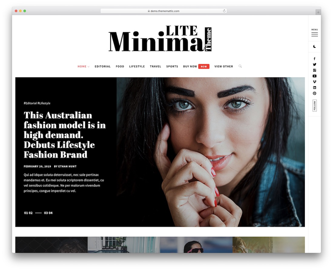 minimal lite free wordpress theme