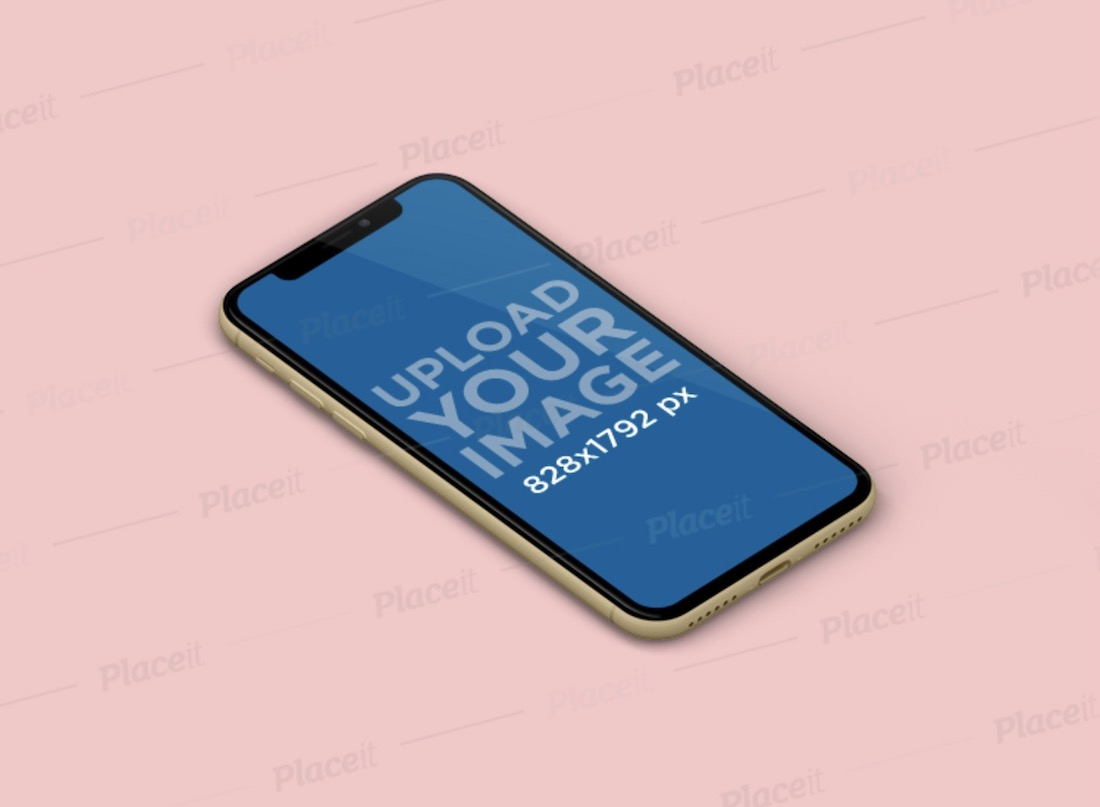 minimal mockup featuring an iphone xr