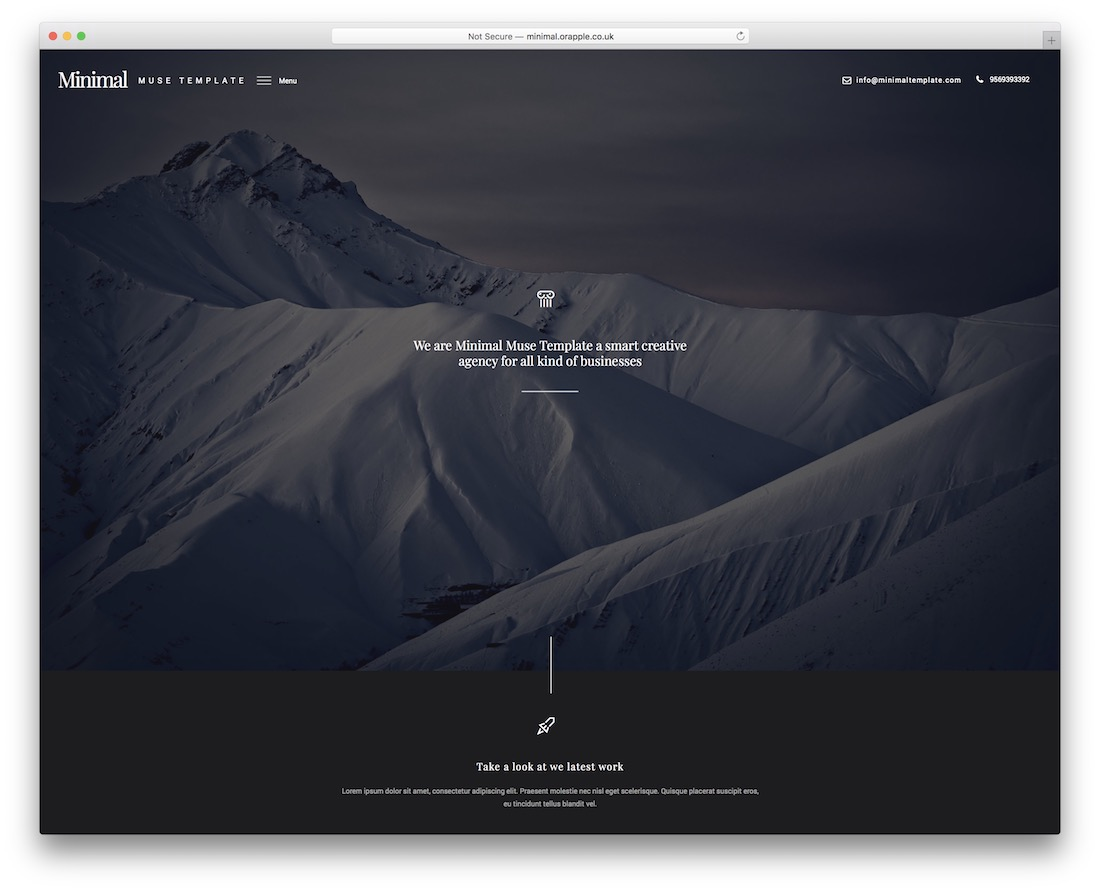 minimal muse corporate adobe muse template