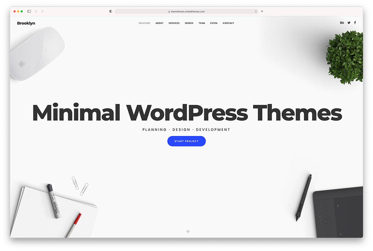 51 Best Minimalist Wordpress Themes For Creatives 2021 Colorlib