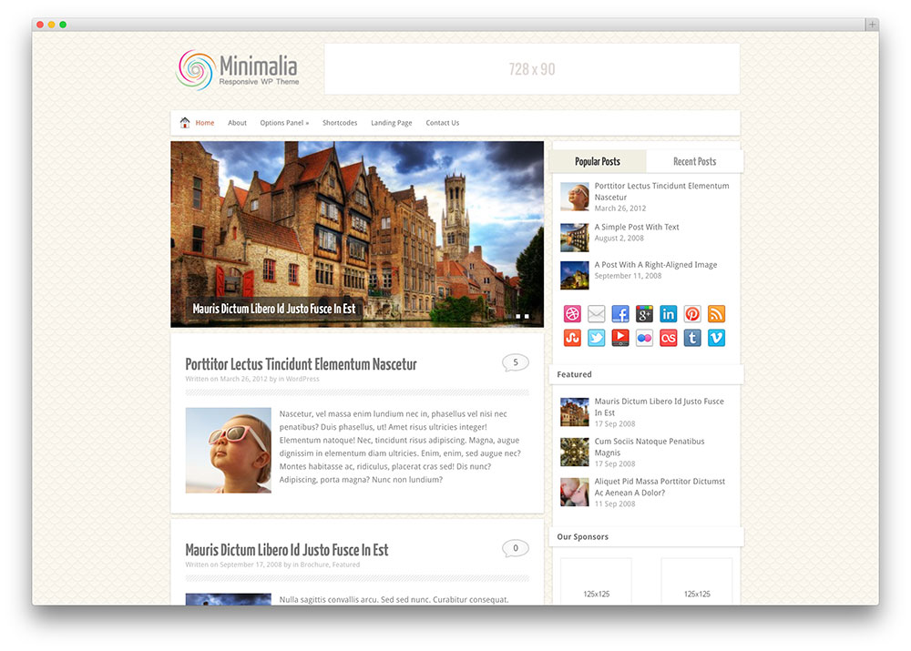 minimalia incisive blogger theme