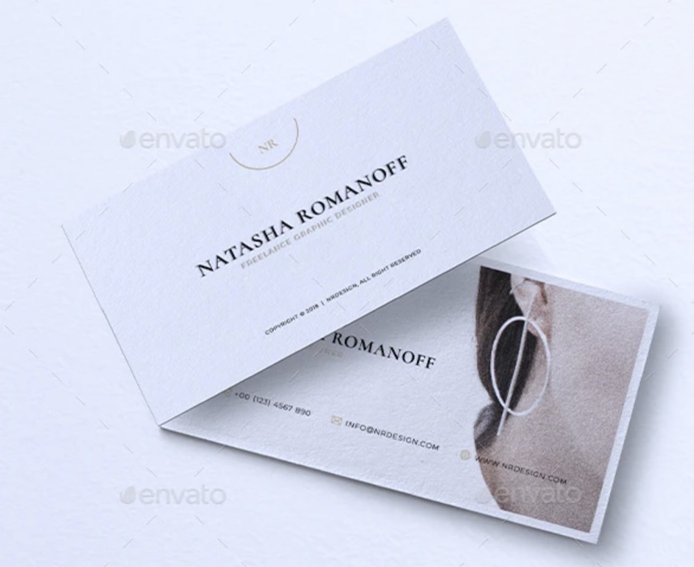 minimalist business card mockup