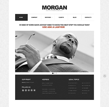 Lawyer Responsive WordPress Theme