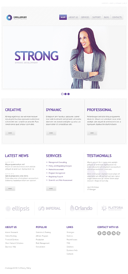SEO Website Responsive WordPress Theme