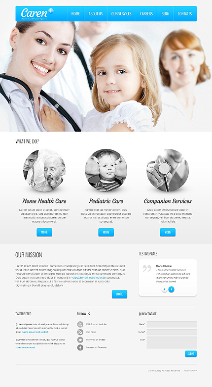 Sterile Medical WordPress Theme