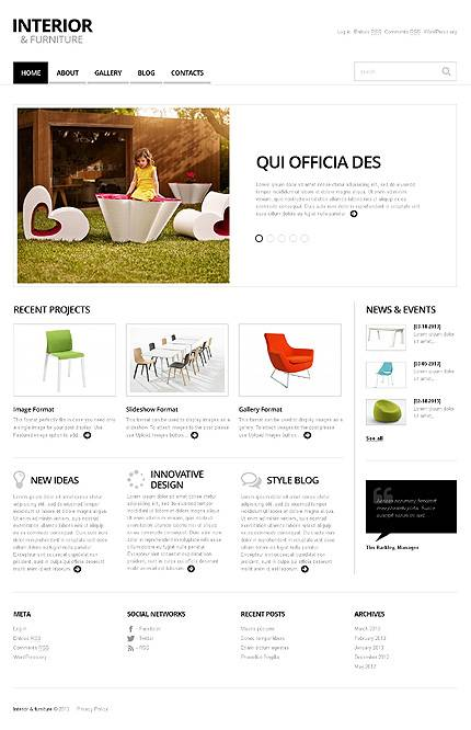 Minimalist Interior and Furniture WordPress Theme