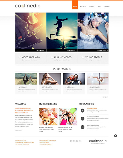 Minimalist Video Lab WordPress Theme