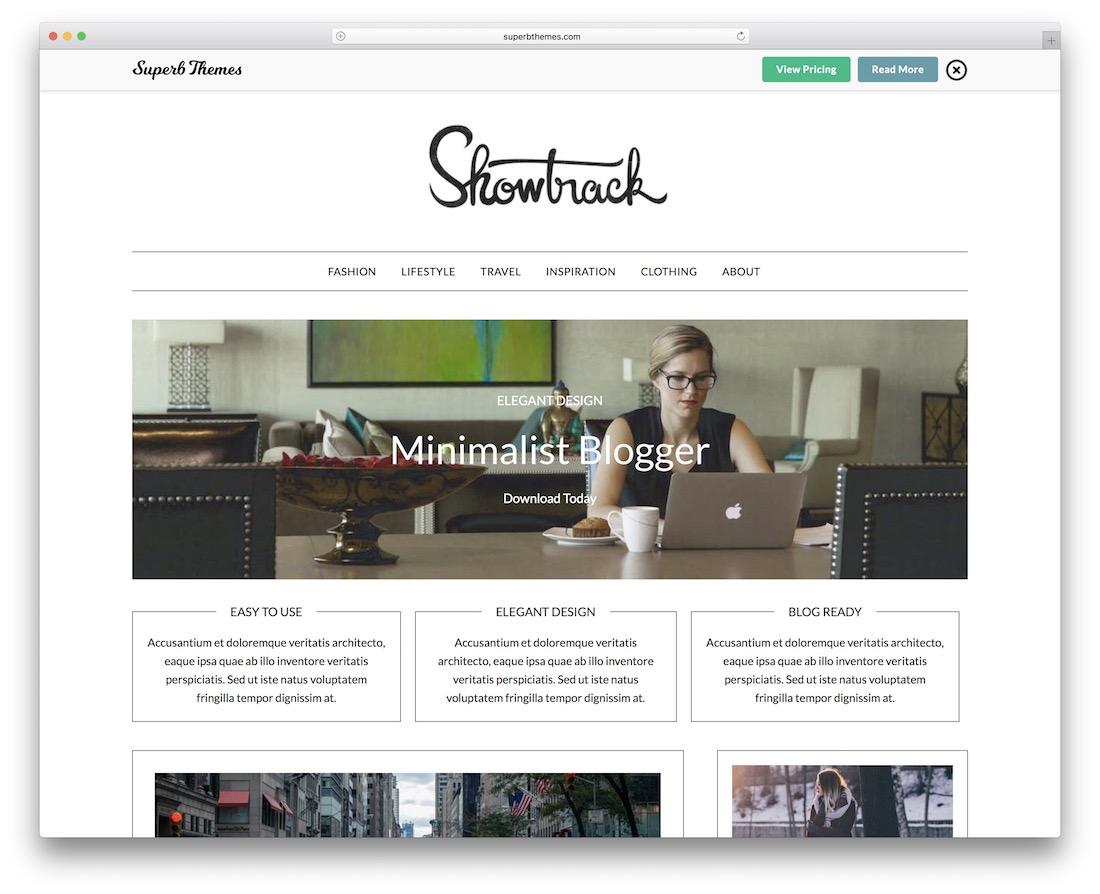 minimalistblogger free wordpress theme