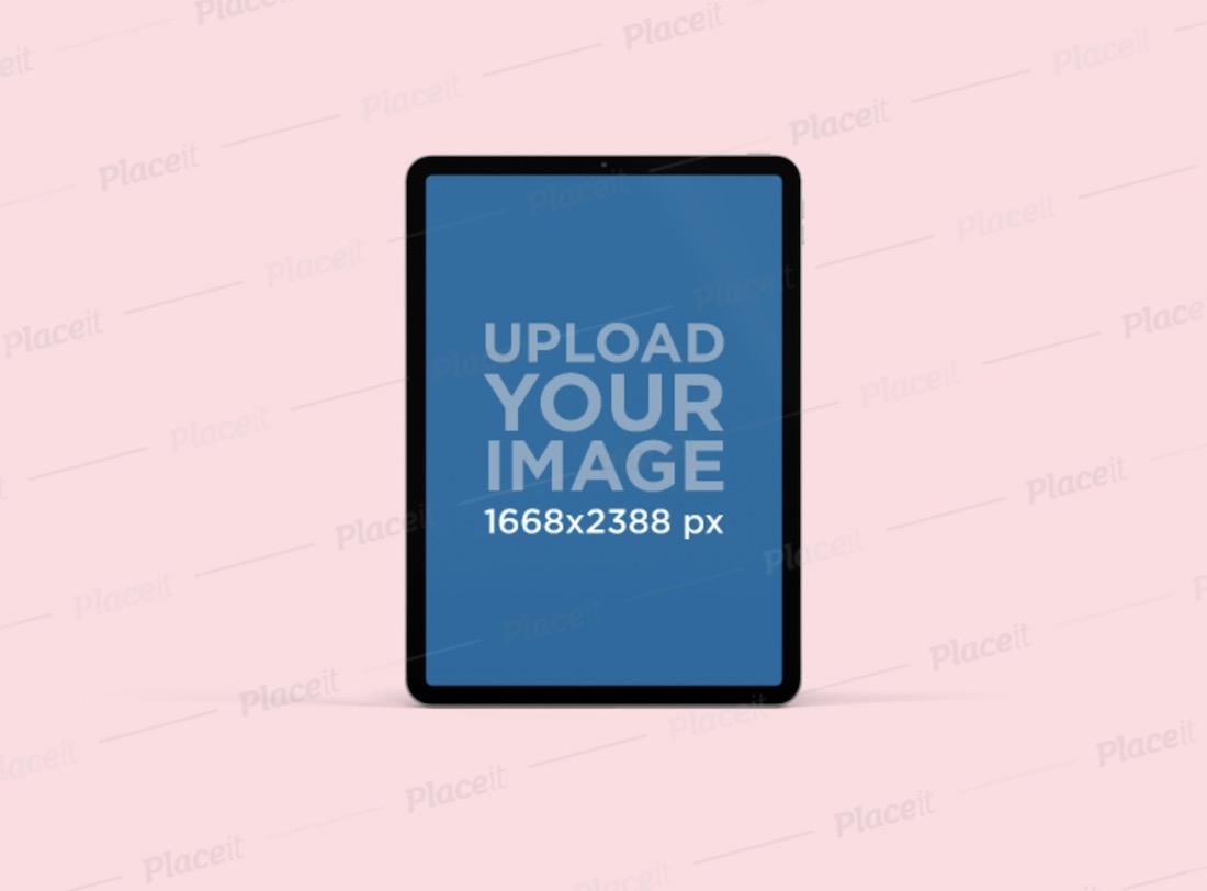 minimalistic ipad pro mockup