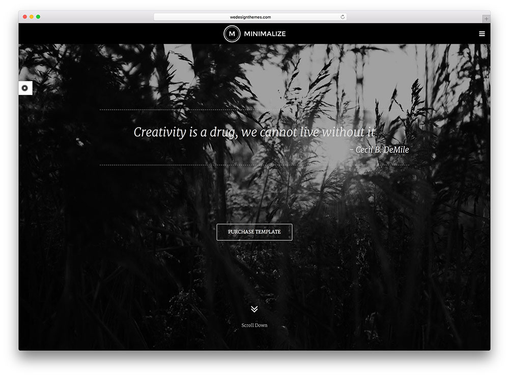 minimalize - black & white WP theme