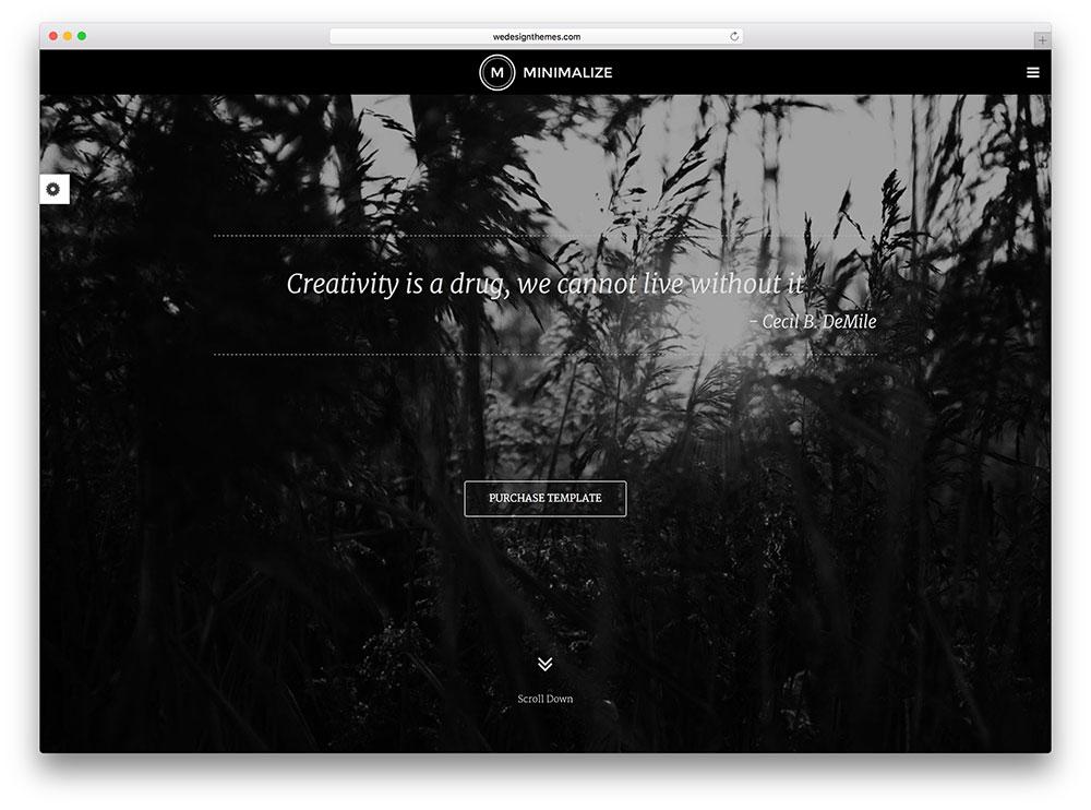 minimalize - black & white WP theme